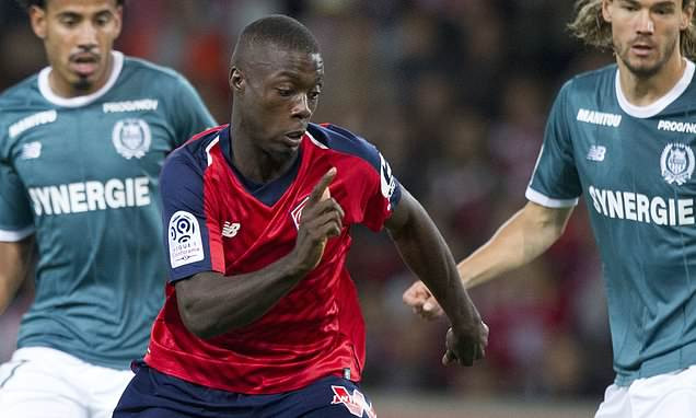 Arsenal 'competing for £30million-rated Lille winger Nicolas